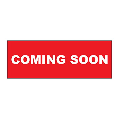(Coming Soon Red METAL ALUMINUM Real Estate Rider Sign - 1 or 2 Side Print /6 in x 24 in Two Side Print)