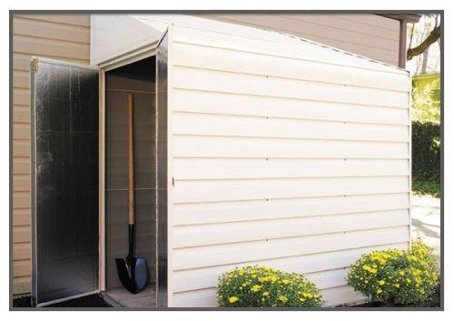 Yardsaver 4x7 Storage Shed - Eggshell and Pent Gable by ShelterLogic Corp.
