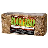 Premium African Black Soap - Pure 1 pound Bulk. Raw Organic Soap for Acne, Dry Skin, Rashes, Burns, Scar Removal, Face & Body