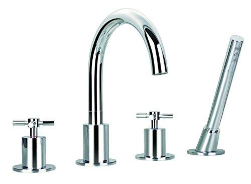 (Ancona Prima Chrome 4 Bathtub Faucet with 4-hole Intallation)