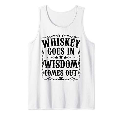 Funny Whiskey Drinker Scotch Bourbon Drinking Gift for Men Tank Top