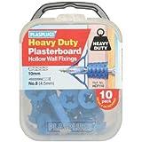 Plasplug Hcf110 Heavy Duty Plasterboard Plugs (10)