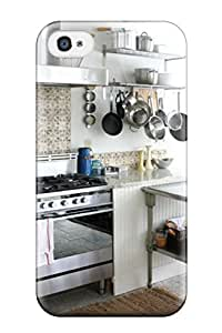 IKbJWoN19257HEVOF ZippyDoritEduard Awesome Case Cover Compatible With Iphone 4/4s - Eclectic Kitchen With Terra Cotta Tile Backsplash