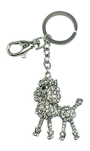 Kubla Craft Articulated French Poodle Key Chain, 5.25 Inches Long by Kubla Craft