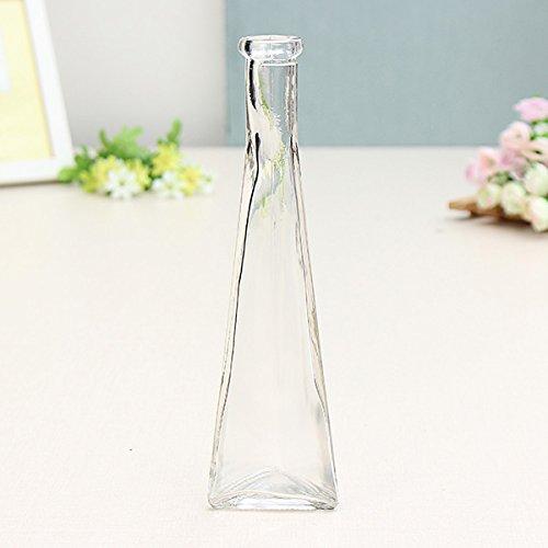 Bluelover Bottiglia di Colore Trasparente Mini Vaso di Vetro Zakkz Fiore di Vetro Ornamenti Fiore Disporre Home Decor -Clear Prezzi