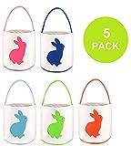 TONOS Easter Basket Easter Egg Hunts Party Bag for Kids Candy Bag 5pc Deal (Small Image)