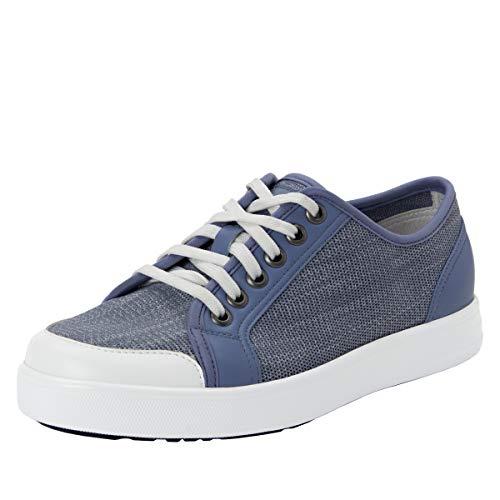 TRAQ BY ALEGRIA Sneaq Womens Smart Walking Shoe Washed Blue 37 EU