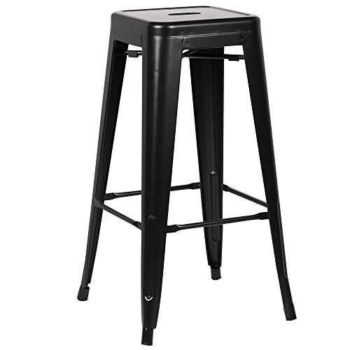 Poly and Bark Trattoria Bar Stool in Black