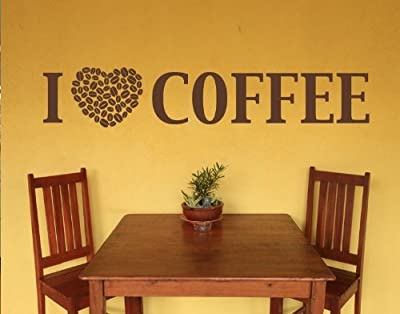 I Love Coffee Wall Decal by Style & Apply - highest quality wall decal, sticker, mural vinyl art home decor, quotes and sayings - 4384