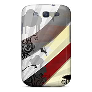 For Galaxy S3 Premium Tpu Case Cover Colourful Abstract Protective Case