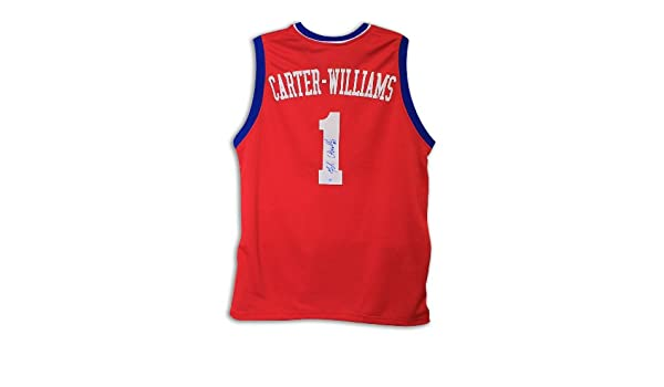 Michael Carter-Williams Philadelphia 76ers Autographed Red Jersey at  Amazon s Sports Collectibles Store 86ed88e0d