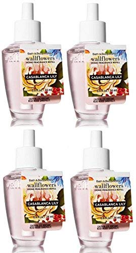 Bath and Body Works 4 Pack Casablanca Lily Wallflowers Fragrance Refill. 0.8 Oz