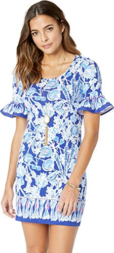 (Lilly Pulitzer Women's Jayden Dress Royal Purple Pretty Peas Engineered Dress X-Large)