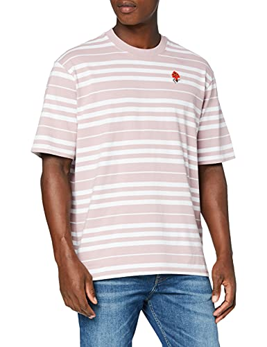 Levis Mens Stay Loose SS Tee T-Shirt, Backyard Stripe Keepsake Lilac, XS