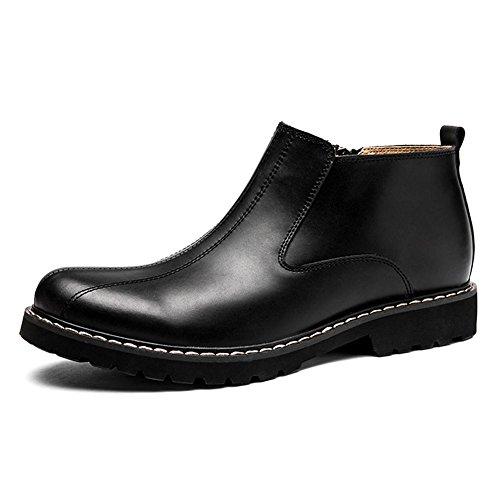 Pelle Caviglia Scarpe Tempo Moda Grande Marrone 38 Stivali Black Autunno Inverno libero traspirante Cerniera 44 Dimensione Uomini balestruccio selvaggio Impermeabile SxOndISw
