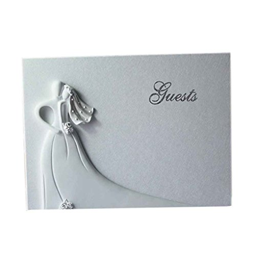 Four Wedding Guest Book Linked Hearts Bride Bridegroom Personalized Signing Book