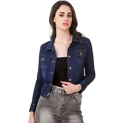 KING-DENIM Shree Kmt Enterprises Full Sleeves Comfort Fit Regular Collar Blue Jacket for Women