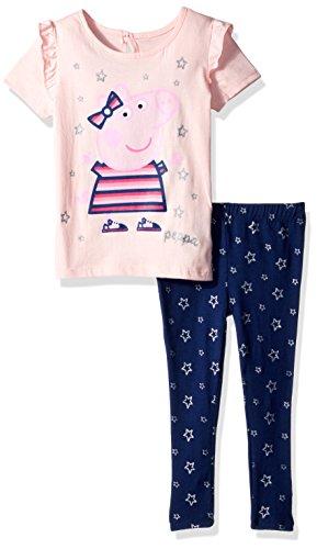 Pig Print (Peppa Pig Toddler Girls Fashion Top and Print Legging Set, Pink/Multi, 3T)
