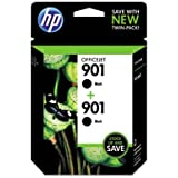 HP 901 Black Ink Cartridge, Twin Pack (CZ075FN)