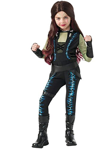Rubie's Costume Guardians of the Galaxy Deluxe Child's Gamora Costume, One Color, Large