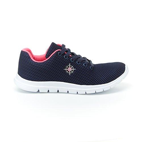 Sneakers Harborsides Stacie In Mesh - Comfort Scarpa Da Ginnastica Allacciata, Soletta Memory Foam Navy