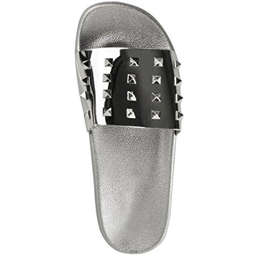 Mujer Plana Deslizamiento N EN Fashion Deslizables Damas Dise Desliza ador Zapatillas Thirsty tachuelas con Sandalias AwxqttS