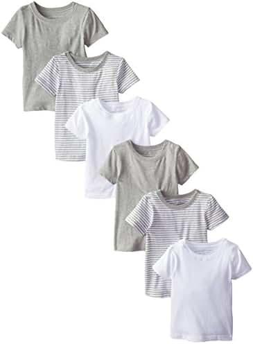Burt's Bees Baby Boys' Short Sleeve Tees (Pack of 6), Multi