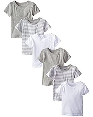 Boys' Set of 6 Organic Short Sleeve Tees