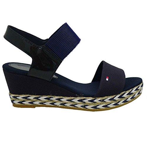 Alpargatas cuña Baja Tommy Hilfiger Elba 33C 403 Azul: Amazon.es: Zapatos y complementos