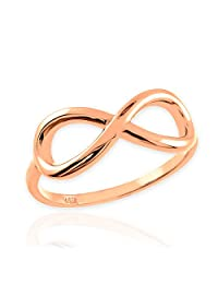 High Polish 10k Rose Gold Infinity Ring