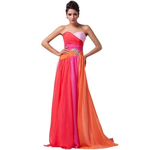 Neckline brush Train Dress Donna Sweep He Abito Con Party Sweetheart Rosso Da line holiday a Chiffon Wedding Increspato dress pieghe xwzqnCvq0