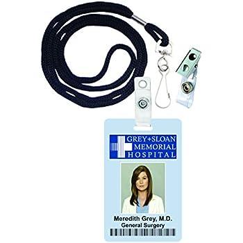 Great Amazon.com : Meredith Grey, Greyu0027s Anatomy Novelty ID Badge ...