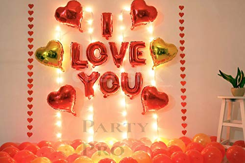 Party Pro I Love You Balloons and Heart Balloons Kit