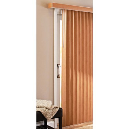 Faux Wood Vertical Blinds - Better Homes and Gardens Vertical Blinds, Printed Oak