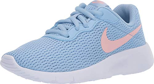 Nike Girl's Tanjun Shoe (2 Little Kid M, Psychic Blue/Bleached Coral/White)