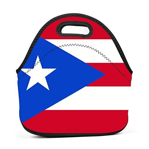 LSJBB Custom 3D Printing Puerto Rico Flag Handbag Bento Bag/Lunch Box/Picnic Bag with Zip & Handle