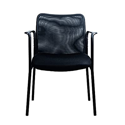 Essentials Mesh Upholstered Stacking Guest/Reception Chair - Modern Stackable Office Chair