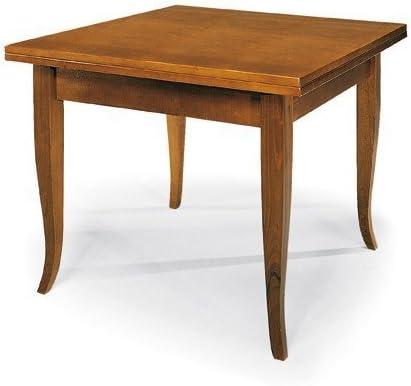 : Tisch Quadratisch Walnuss ausziehbar Maße wählbar