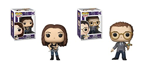 Funko POP Television Buffy The Vampire Slayer 20th Anniversary: Faith and Giles Toy Action Figure - 2 POP BUNDLE (Figurines Buffy)