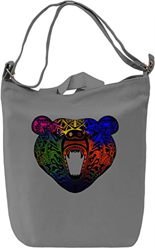 Angry Beast Borsa Giornaliera Canvas Canvas Day Bag| 100% Premium Cotton Canvas| DTG Printing|