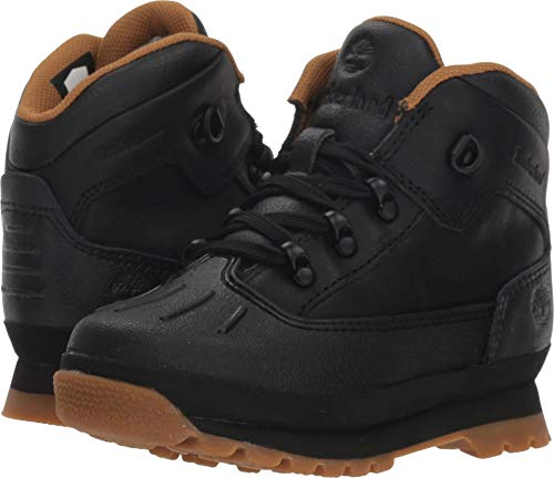 Hiker Shell Toe Fashion Boot, Black Full Grain, 5 Medium US Toddler ()