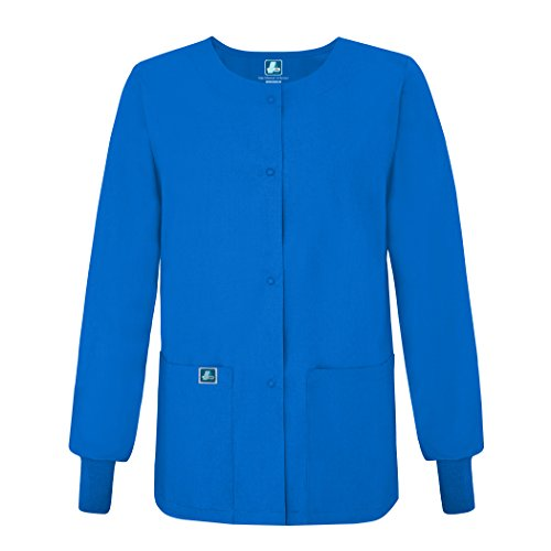 Adar Universal Round Neck Warm-Up Jacket - 602 - Regal Blue - - Shopping Dallas Outlet