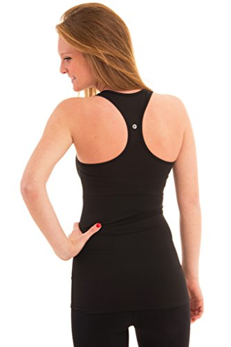 90944cabc2eec 90 Degree by Reflex - Power Flex Racerback Tank Top - Jet Black Large   Amazon.com.au  Home
