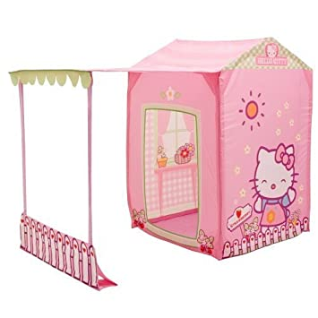 Amazon.com: PlayHut Hello Kitty Collapsible Play Kitchen Tent ...