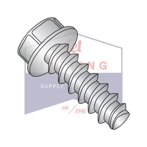 1/4-10X1/2 Plastite Style Thread Forming Screws | Unslotted | Indented Hex Washer Head |18-8 Stainless Steel, Passivated & Waxed (QUANTITY: 2000) by Jet Fitting & Supply Corp