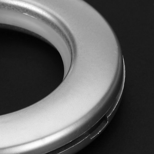 LOVIVER 6pcs Anneau pour Tringle /à Rideaux Plastique Rond Anneaux d/Œillet de Rideau Accessoires de Maison Dia Int/érieur 45mm