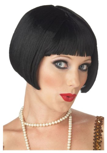 Flirty Adult Flapper Wig (California Costume Women's Flirty Flapper Wig, Black,)