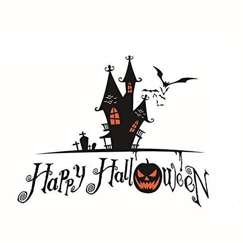 (ARAYACY Halloween Pumpkin Taro Mural/Scary Wall Sticker Decorative Waterproof Wallpaper/Removable)