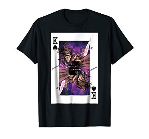 (Marvel X-Men Gambit King Of Spades Graphic T-Shirt)