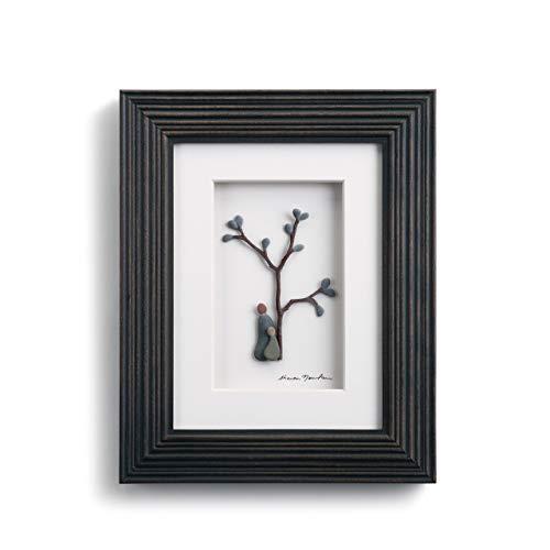 DEMDACO Sharon Nowlan Birds of a Feather Espresso Finish 8 x 10 Dimensional Framed Wall Art Plaque